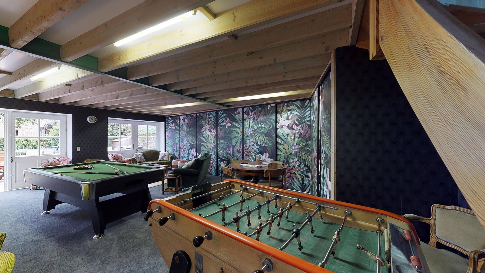 VILLA DE MALTE 06 - SALLE DE JEUX - Location de Gite La Clef Decamp - Laclefdecamp.fr