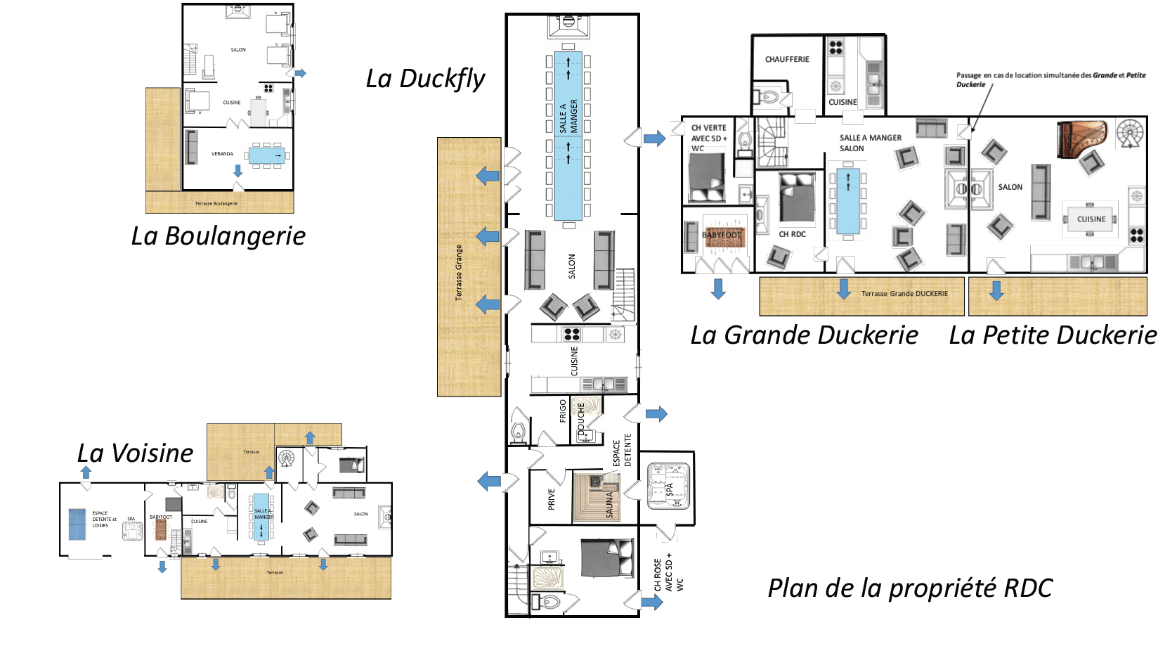 Plan la Duckerie - GITE LA DUCKERIE - Location de Gite La Clef Decamp - Laclefdecamp.fr