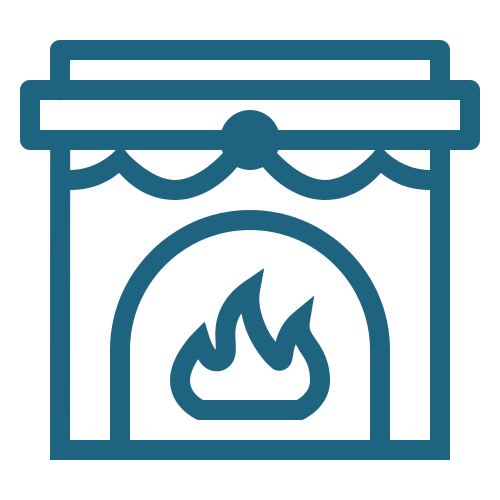 icons8 fireplace 500 - Tarifs - Location de Gite La Clef Decamp - Laclefdecamp.fr