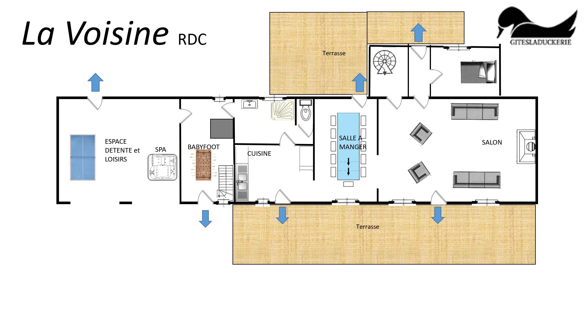 La Voisine plans - LA VOISINE - Location de Gite La Clef Decamp - Laclefdecamp.fr