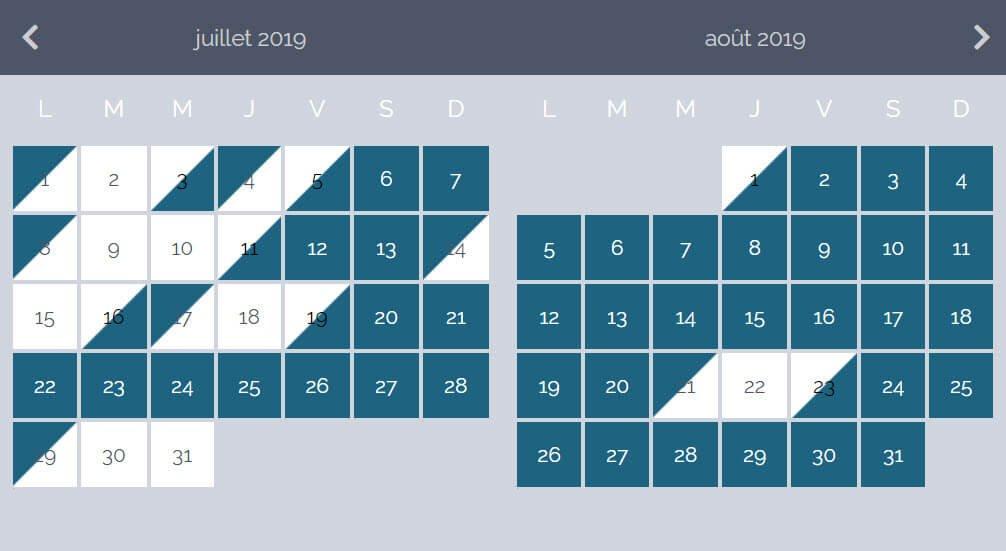 Calendrier - La Clef Decamp.fr s'offre un relooking exceptionnel pour ses gîtes d'exception - Location de Gite La Clef Decamp - Laclefdecamp.fr