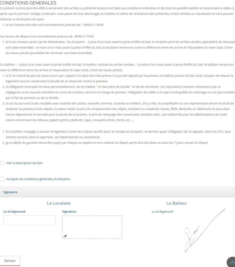 contrat exemple2 - La Clef Decamp.fr s'offre un relooking exceptionnel pour ses gîtes d'exception - Location de Gite La Clef Decamp - Laclefdecamp.fr