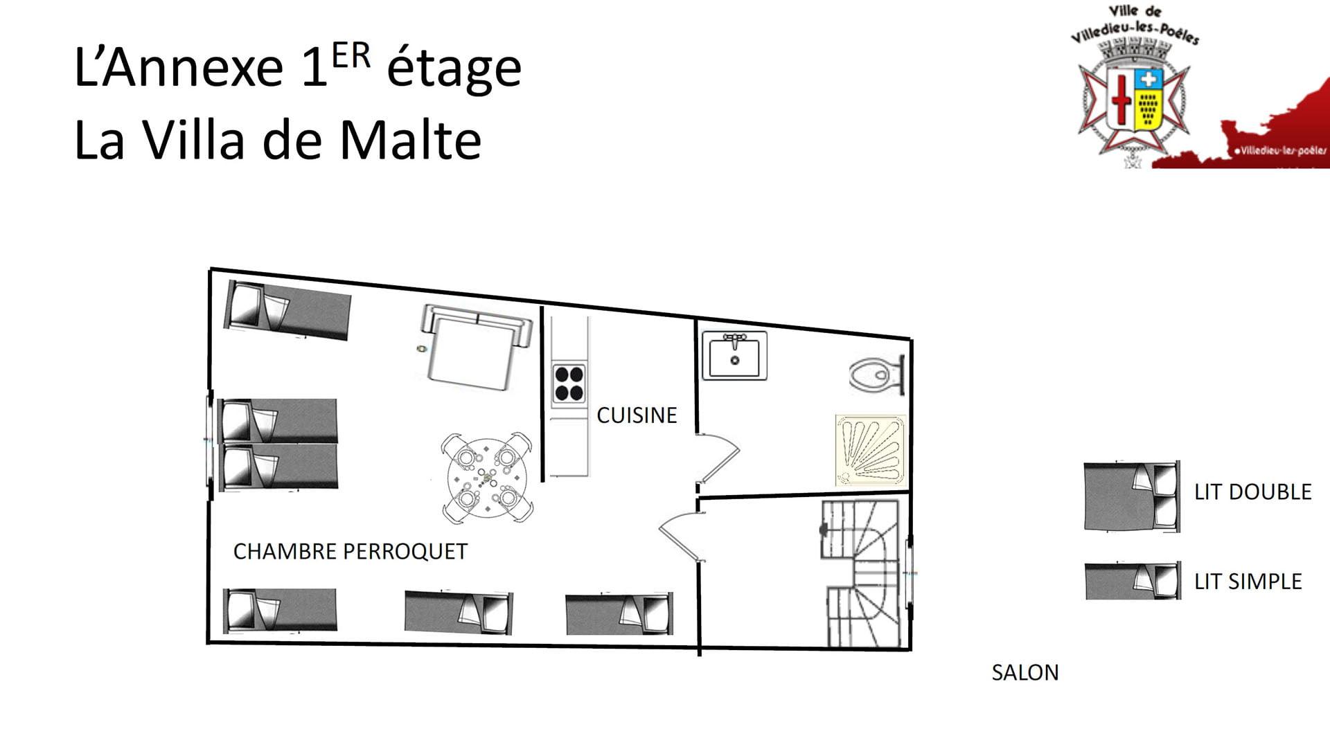 La Villa De Malte 1er Annexe - L'ANNEXE - Location de Gite La Clef Decamp - Laclefdecamp.fr