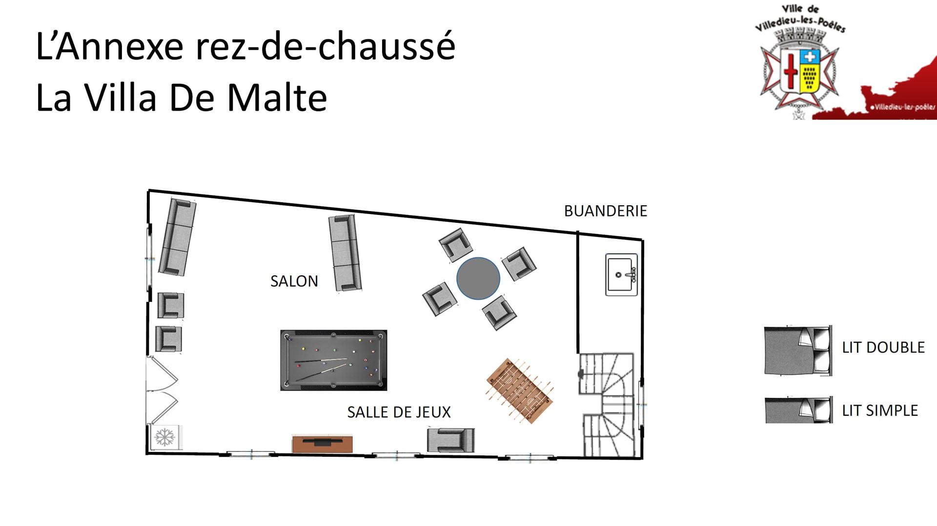 La Villa De Malte RDC Annexe - L'ANNEXE - Location de Gite La Clef Decamp - Laclefdecamp.fr