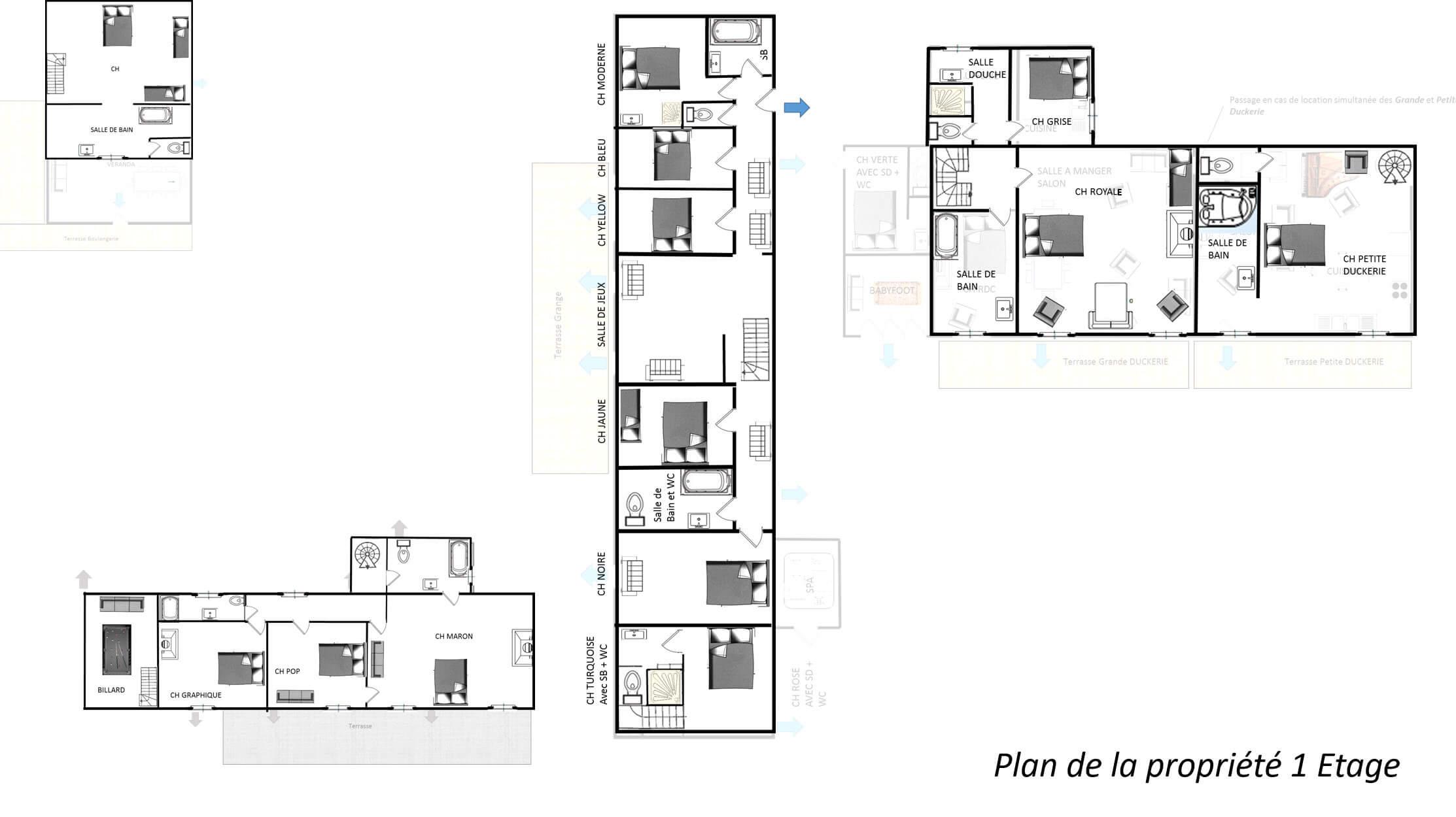 Duckerie 1er etage - GITE LA DUCKERIE - Location de Gite La Clef Decamp - Laclefdecamp.fr