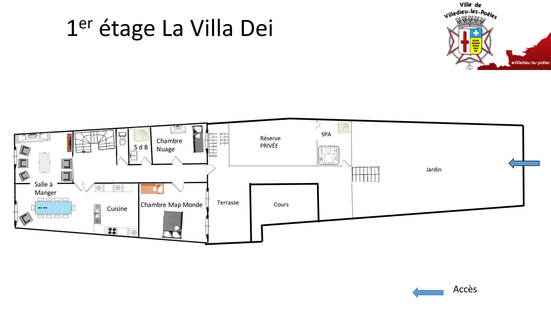 La Villa Dei 1er - GÎTE LA VILLA DEI - Location de Gite La Clef Decamp - Laclefdecamp.fr
