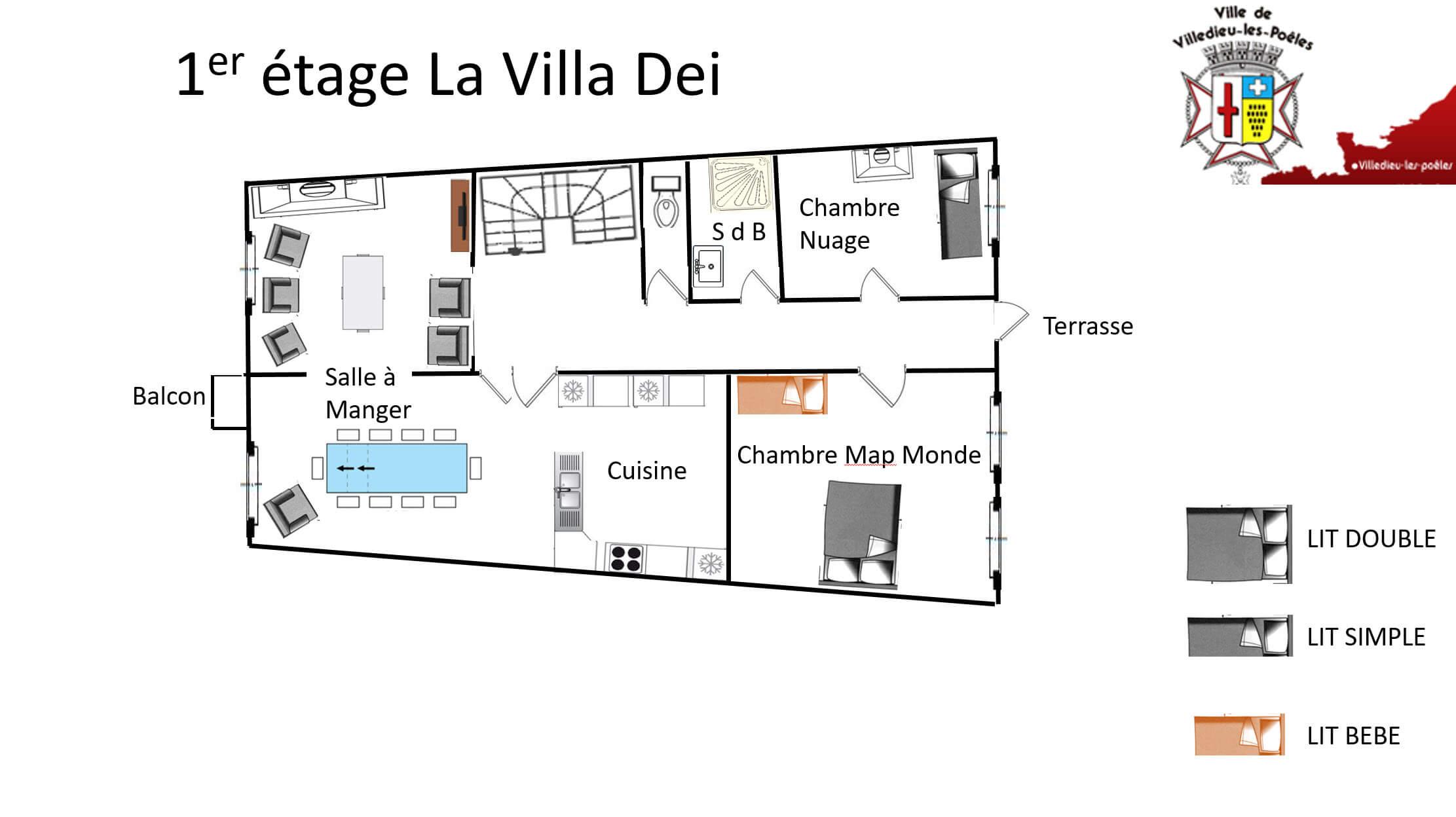 La Villa Dei 1er2 - GÎTE LA VILLA DEI - Location de Gite La Clef Decamp - Laclefdecamp.fr