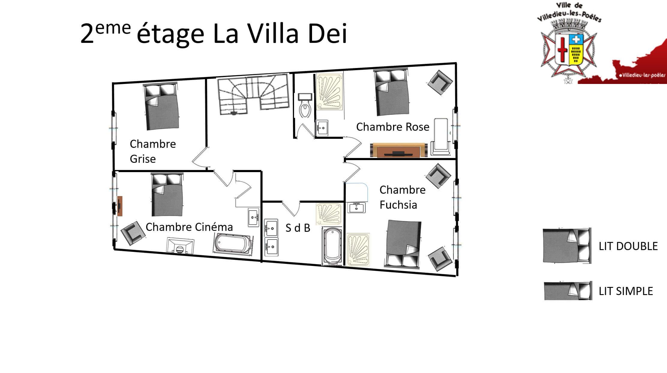 La Villa Dei 2eme - GÎTE LA VILLA DEI - Location de Gite La Clef Decamp - Laclefdecamp.fr