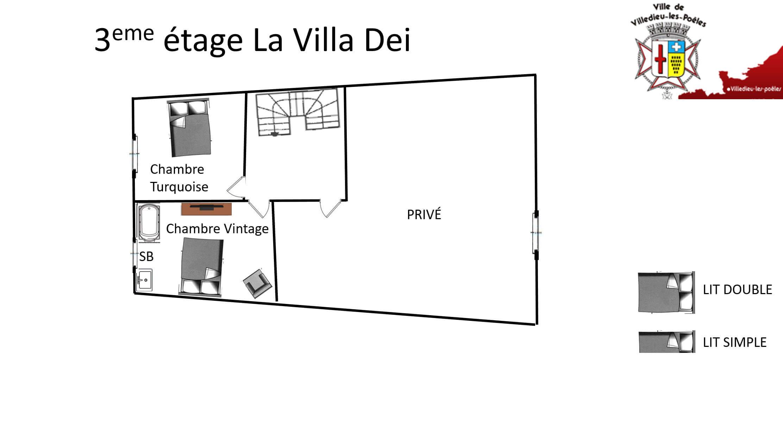 La Villa Dei 3eme - GÎTE LA VILLA DEI - Location de Gite La Clef Decamp - Laclefdecamp.fr