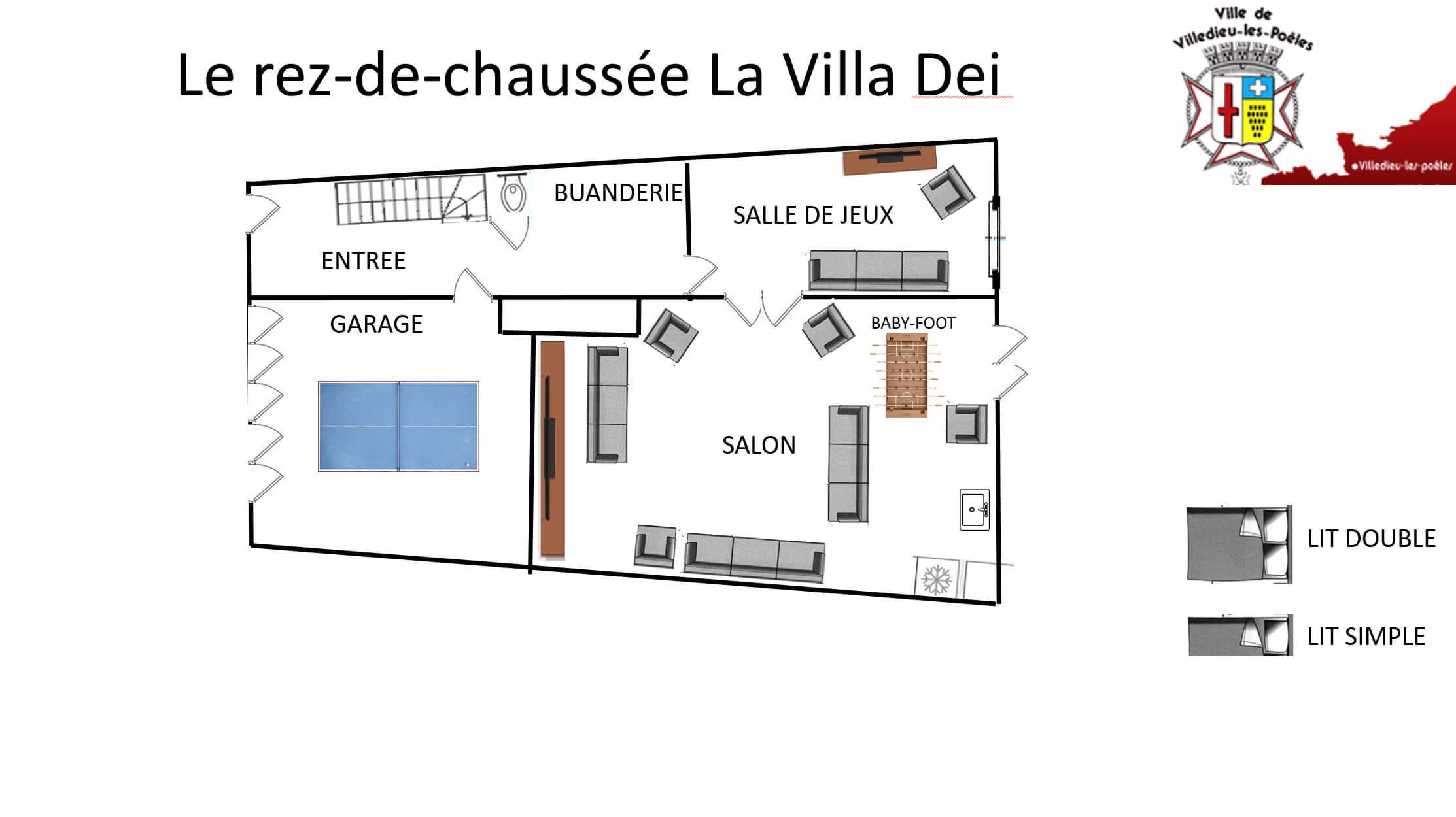 La Villa Dei RDC - GÎTE LA VILLA DEI - Location de Gite La Clef Decamp - Laclefdecamp.fr