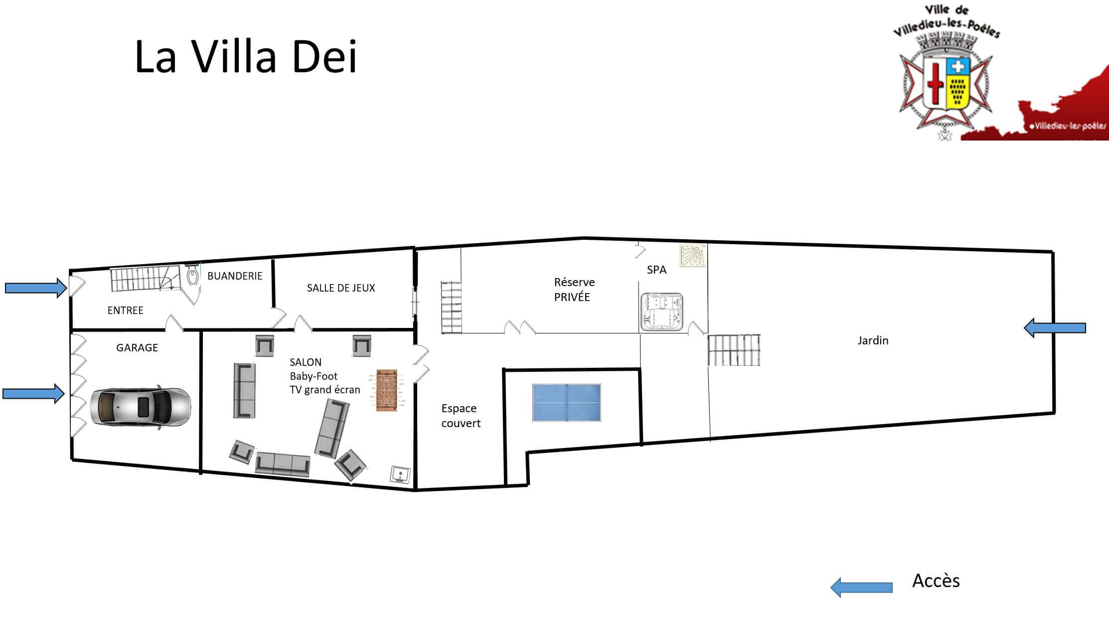 La Villa Dei - GÎTE LA VILLA DEI - Location de Gite La Clef Decamp - Laclefdecamp.fr