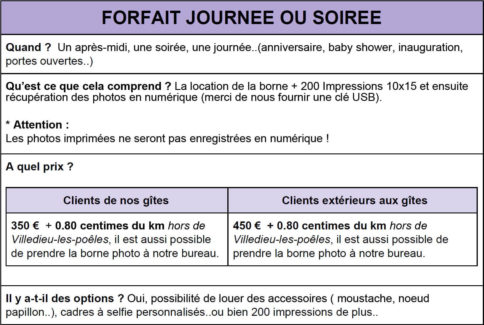 forfait journ%C3%A9e2 - Borne Photo Selfie - Location de Gite La Clef Decamp - Laclefdecamp.fr