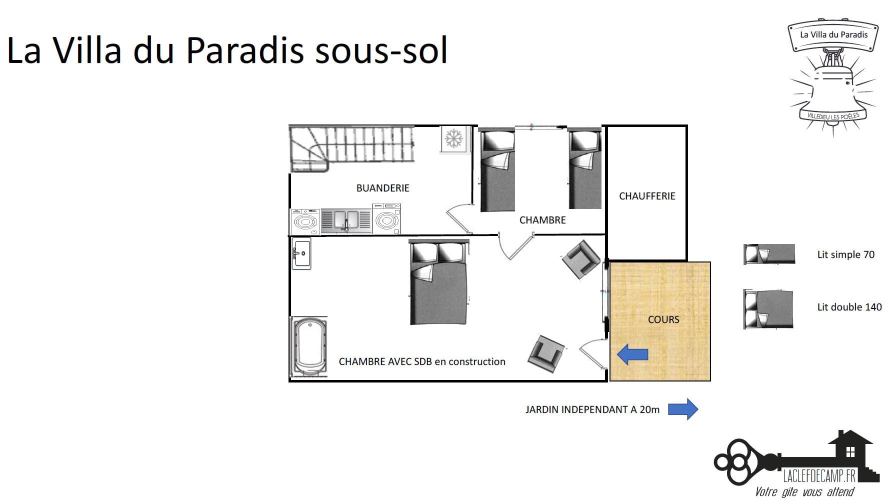 La Villa Du Paradis Villa du paradis sous sol