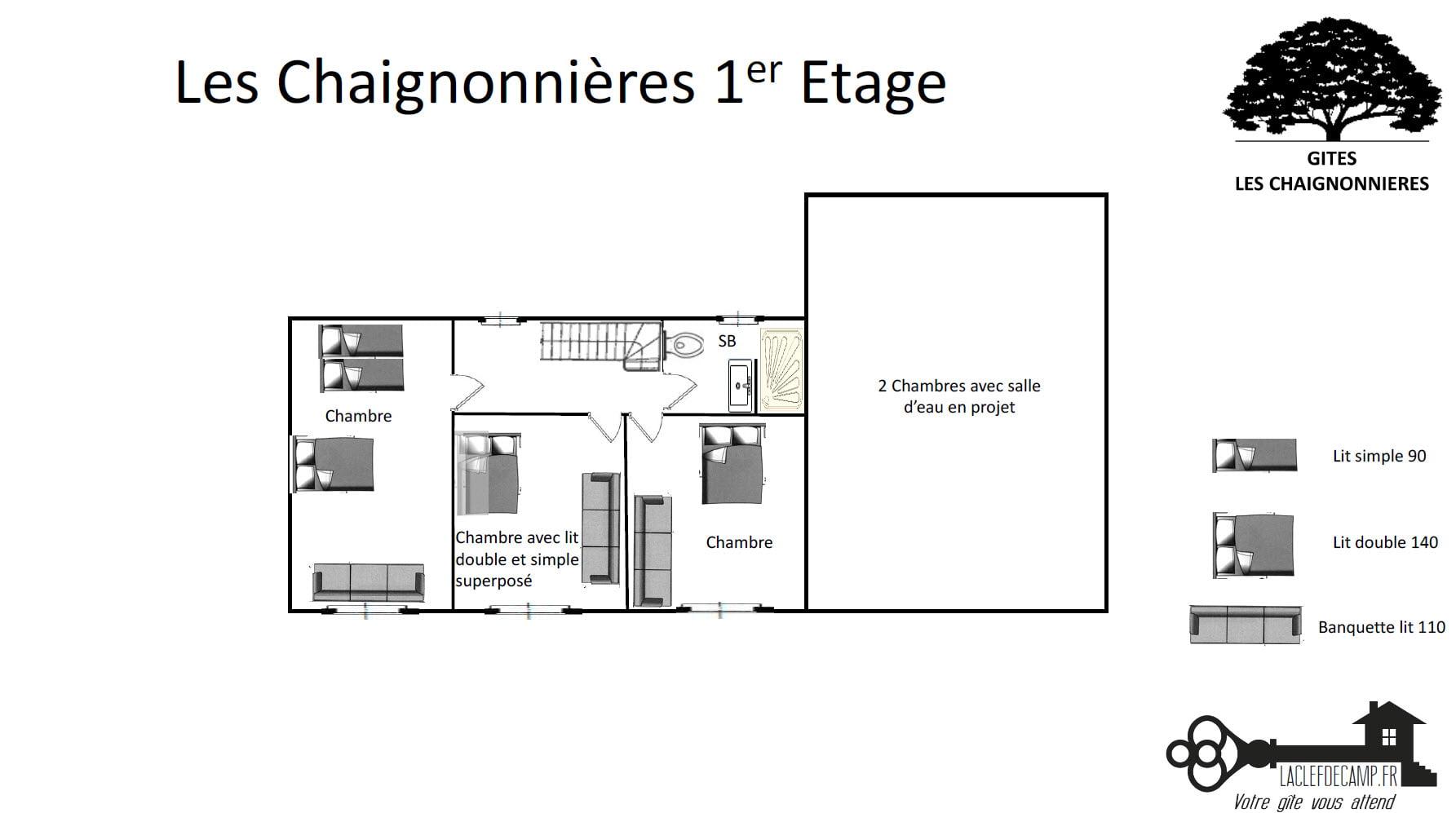 chaignonnieres 1er - LA MAISON - Location de Gite La Clef Decamp - Laclefdecamp.fr