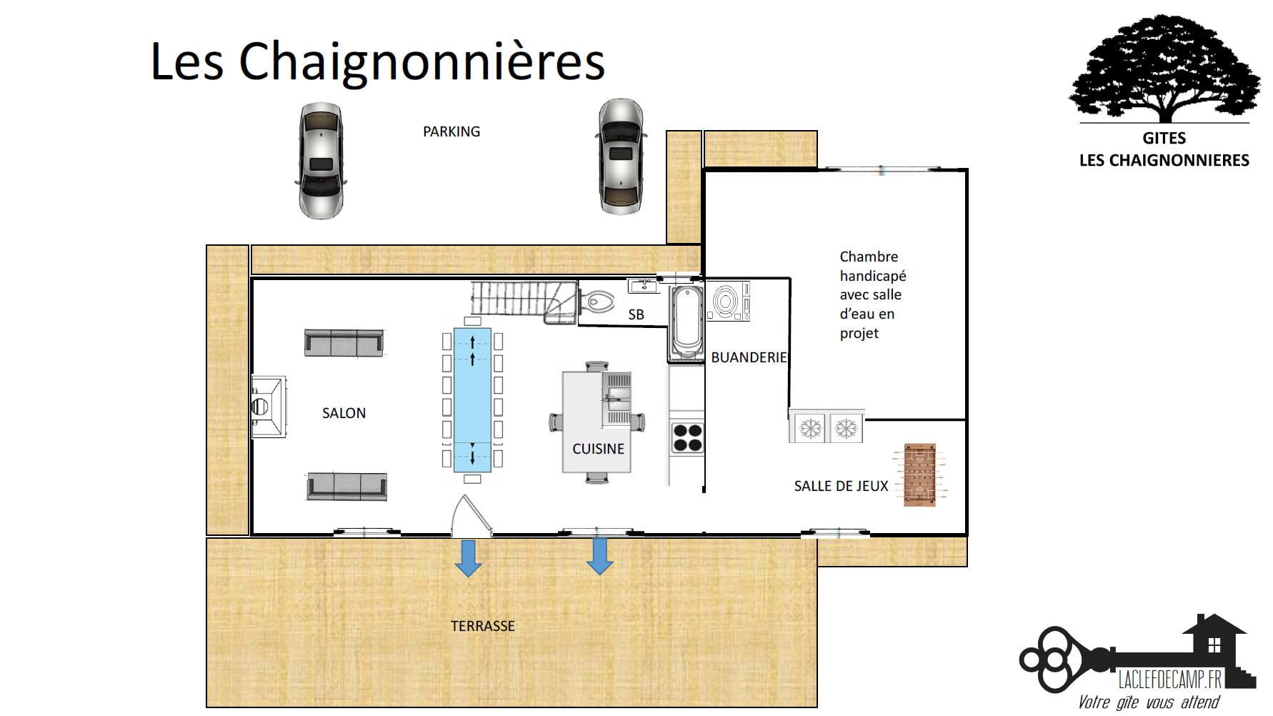 chaignonnieres rdc - LA MAISON - Location de Gite La Clef Decamp - Laclefdecamp.fr