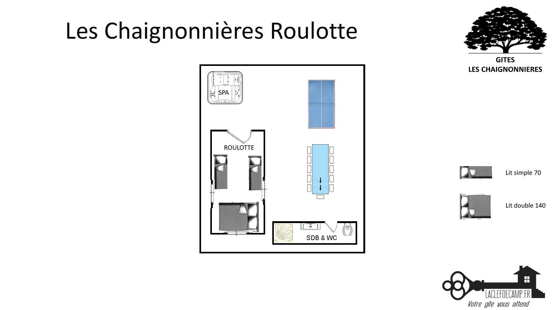 Roulotte gite - LA ROULOTTE - Location de Gite La Clef Decamp - Laclefdecamp.fr