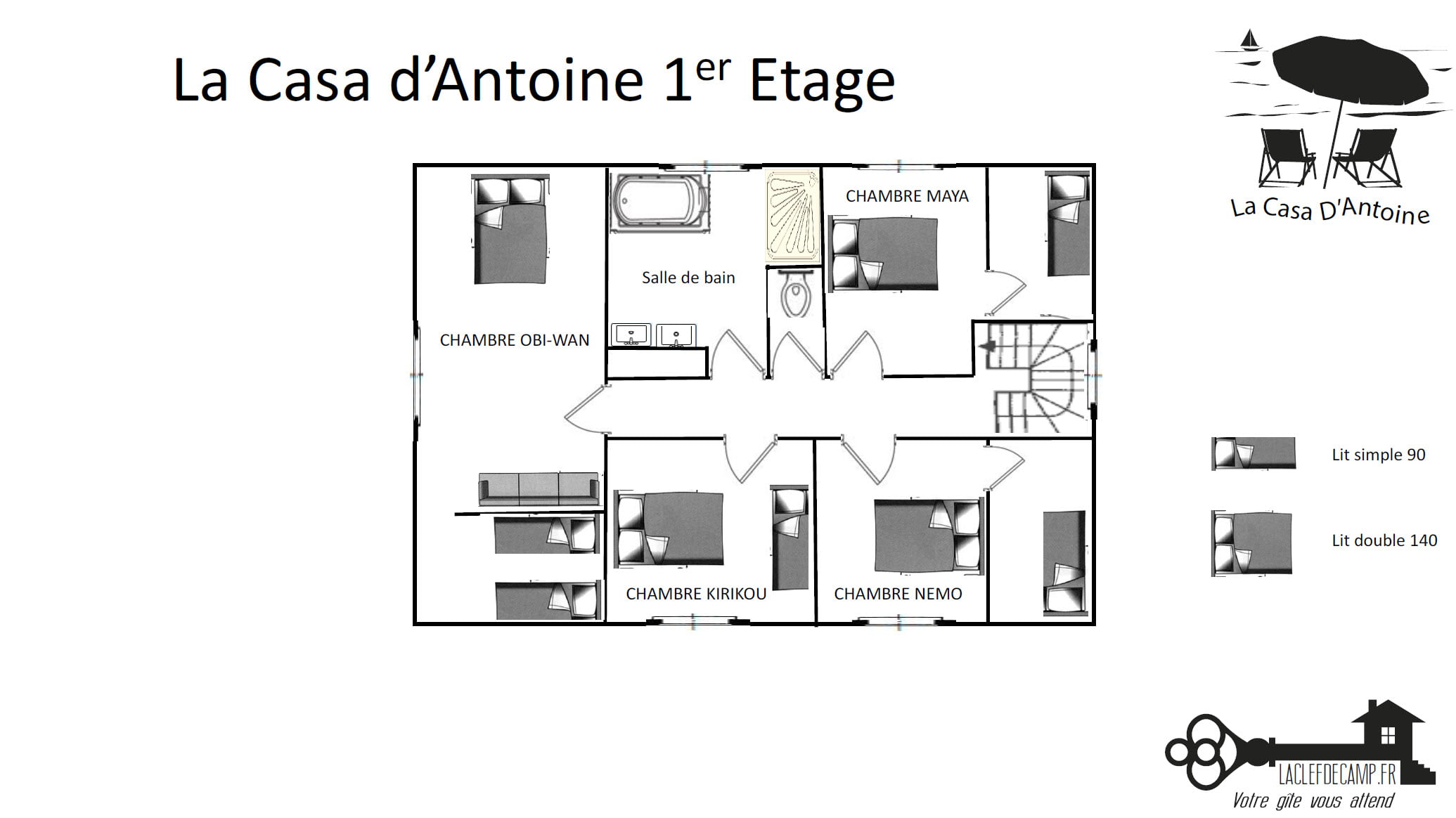 La casa dantoine 1er - La Casa d'Antoine - Location de Gite La Clef Decamp - Laclefdecamp.fr