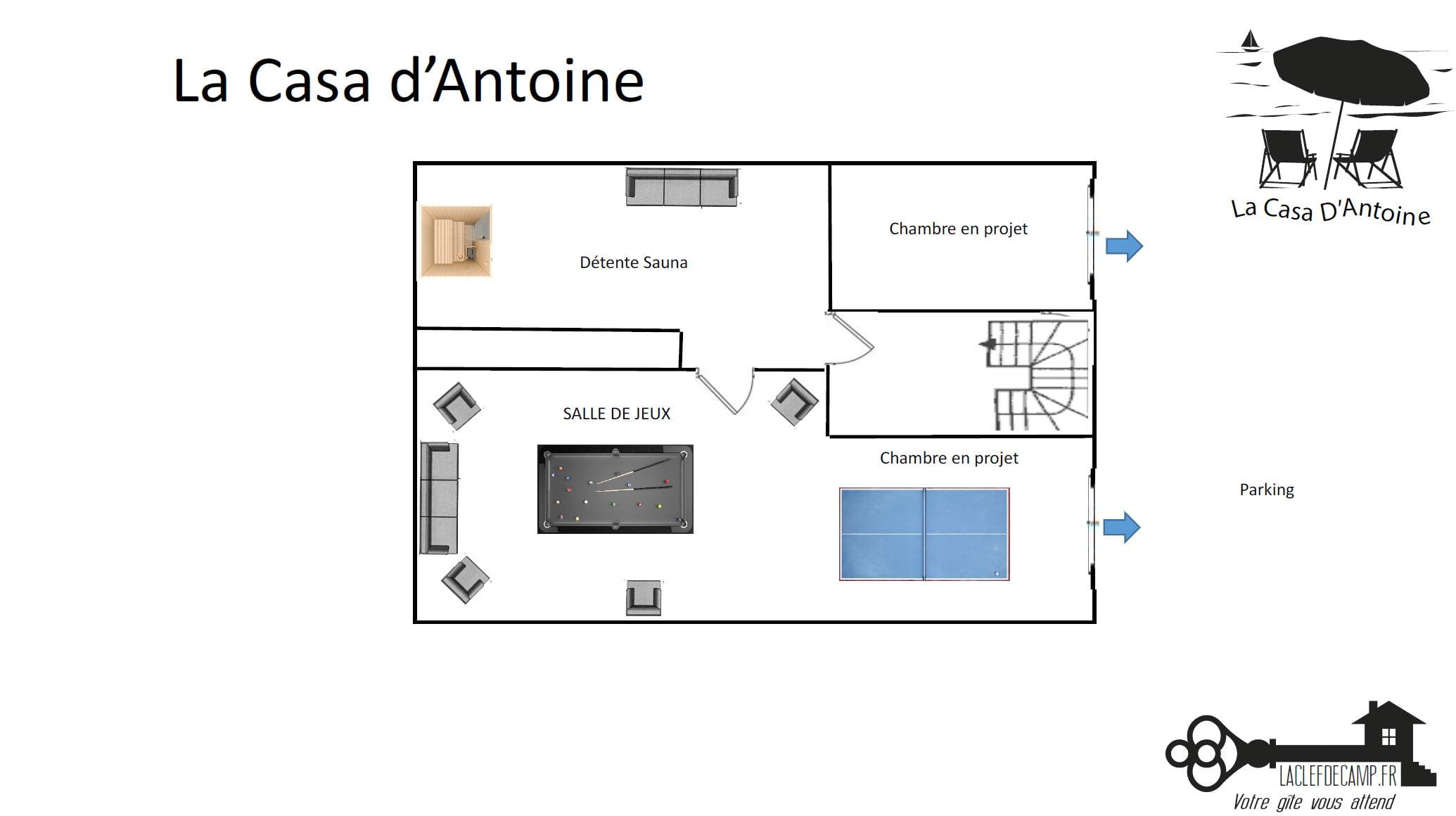 La casa dantoine - La Casa d'Antoine - Location de Gite La Clef Decamp - Laclefdecamp.fr
