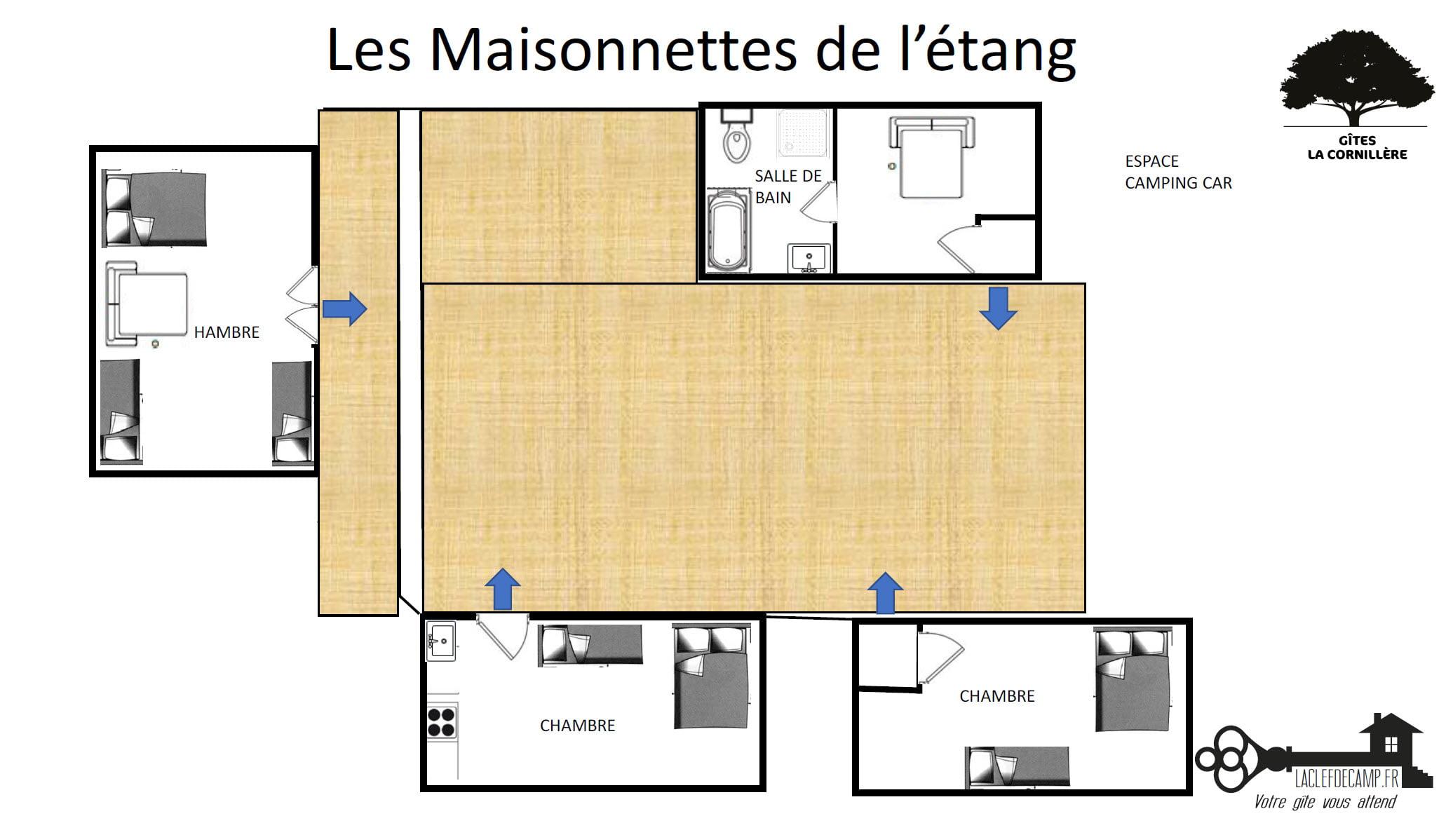 Les Cornielleres maisonnettes - Les Cornillières - Location de Gite La Clef Decamp - Laclefdecamp.fr